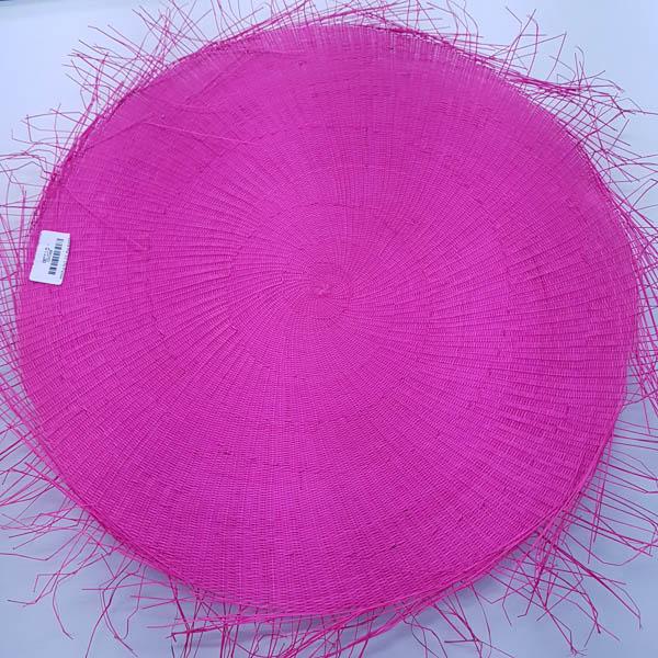 Buntal Mat 1x1 Weave 43cm Hot Pink