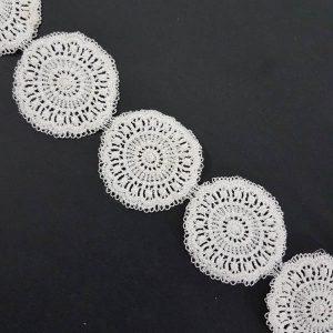 Lace White 5cm Circles