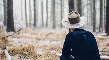 Felt Hat in Snow