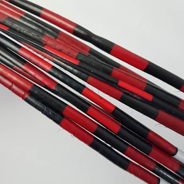 Ostrich Spine Striped Black Red