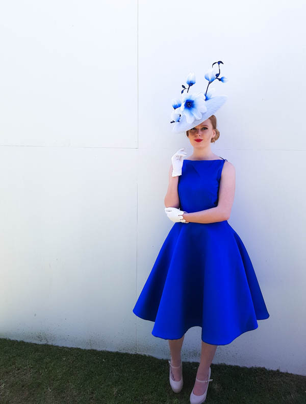 Hat and dress by Lindsay Whitehead