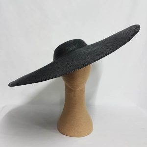Giant Poly Hat with Shallow Crown Black