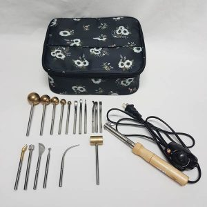17 Piece Flower Tool Set With Iron