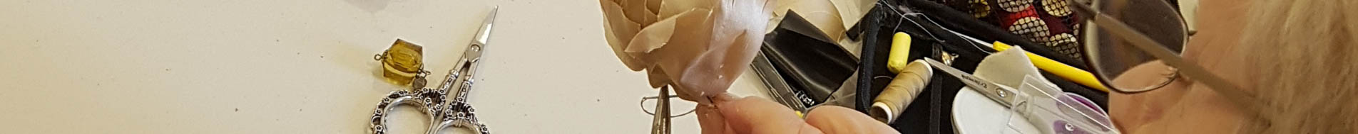 sewing a flower