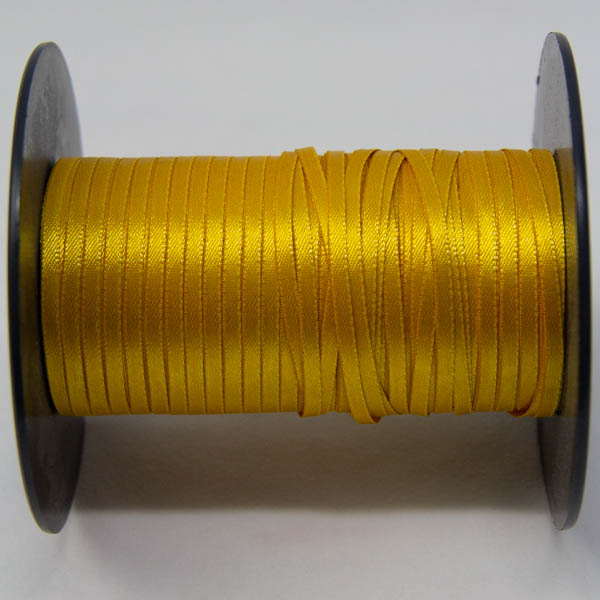 satin ribbon 3mm golden yellow