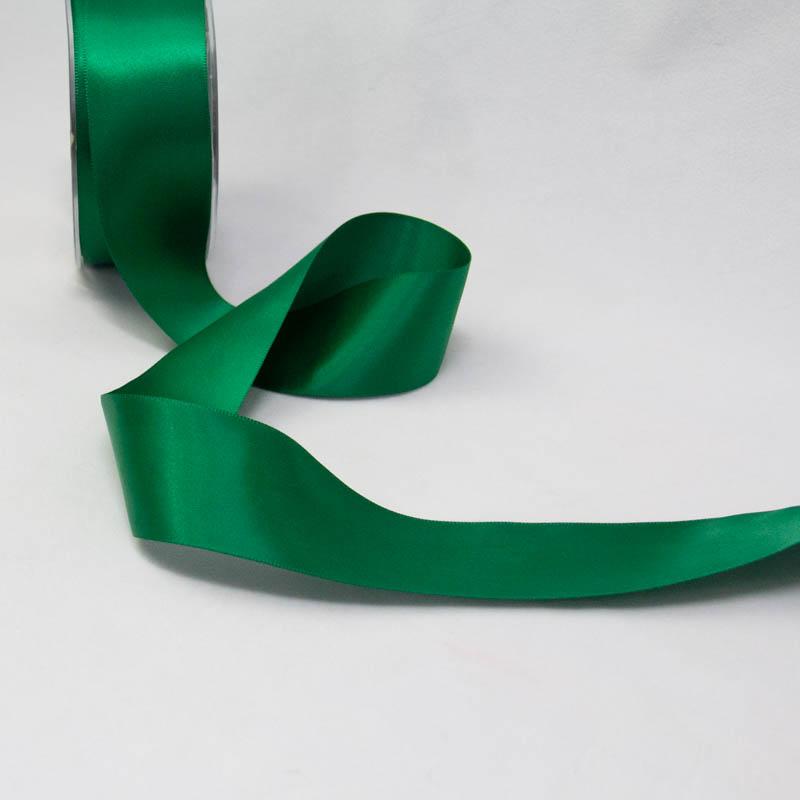 satin ribbon 38mm green
