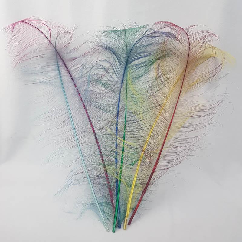 Burnt ostrich feather 50-60cm