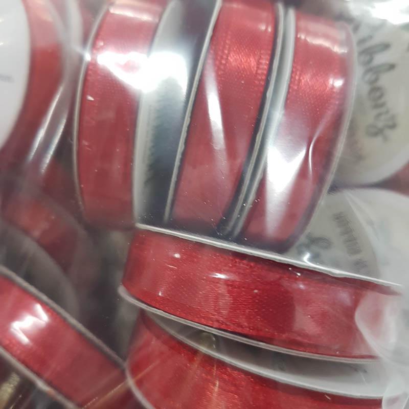 satin ribbon 6mm x 4m red